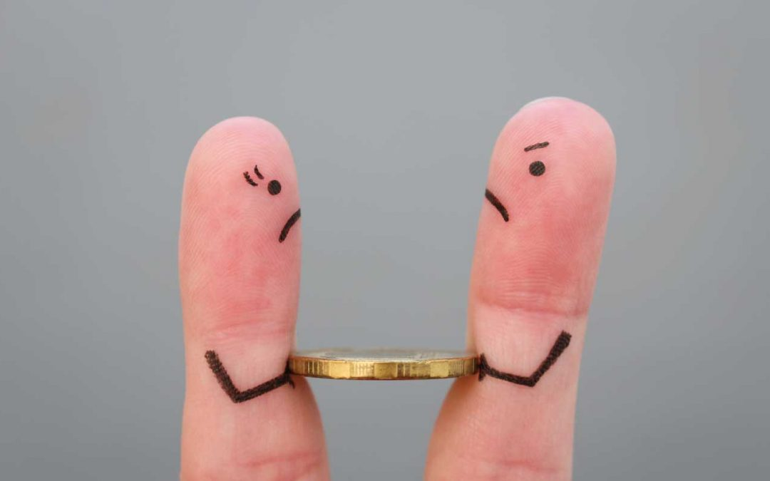 dedos moneda